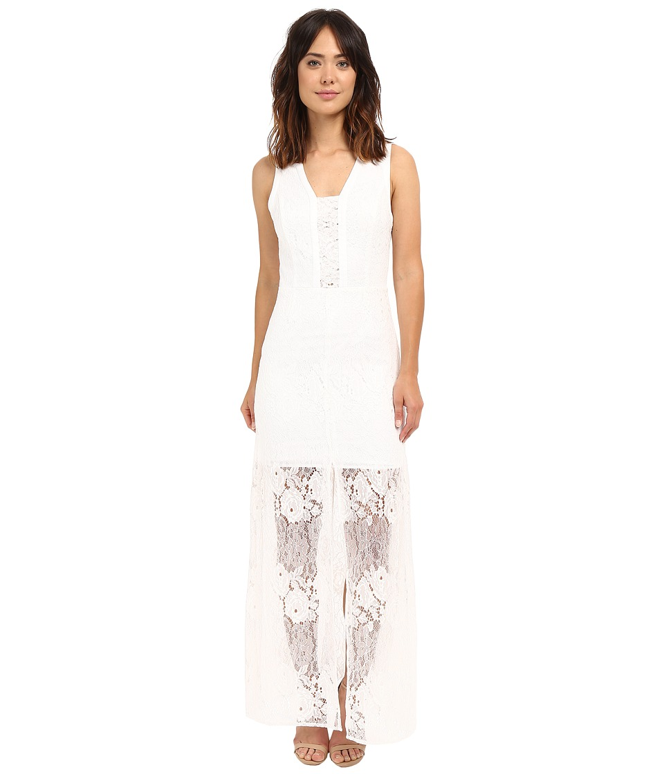 Adelyn Rae Sleeveless Lace Maxi Dress White Womens Dress