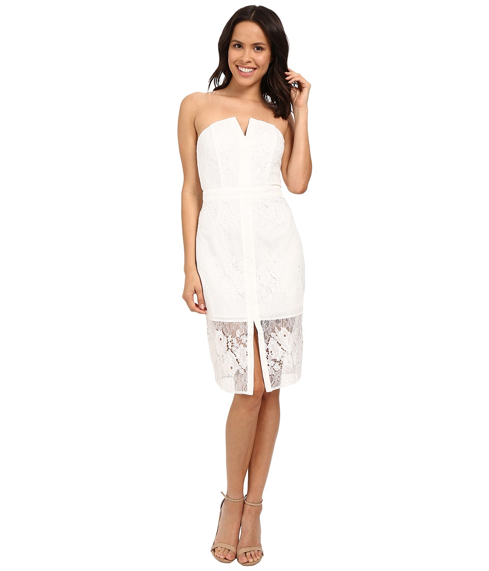 Adelyn Rae Tube Midi Lace Dress White Womens Dress
