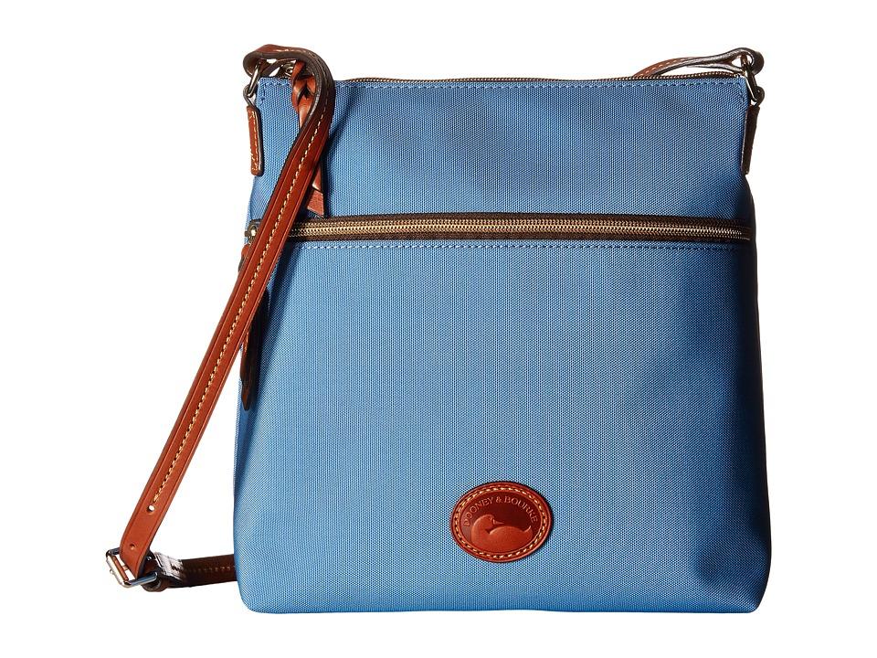 Dooney amp Bourke Nylon Crossbody Dusty Blue/Tan Trim Cross Body Handbags