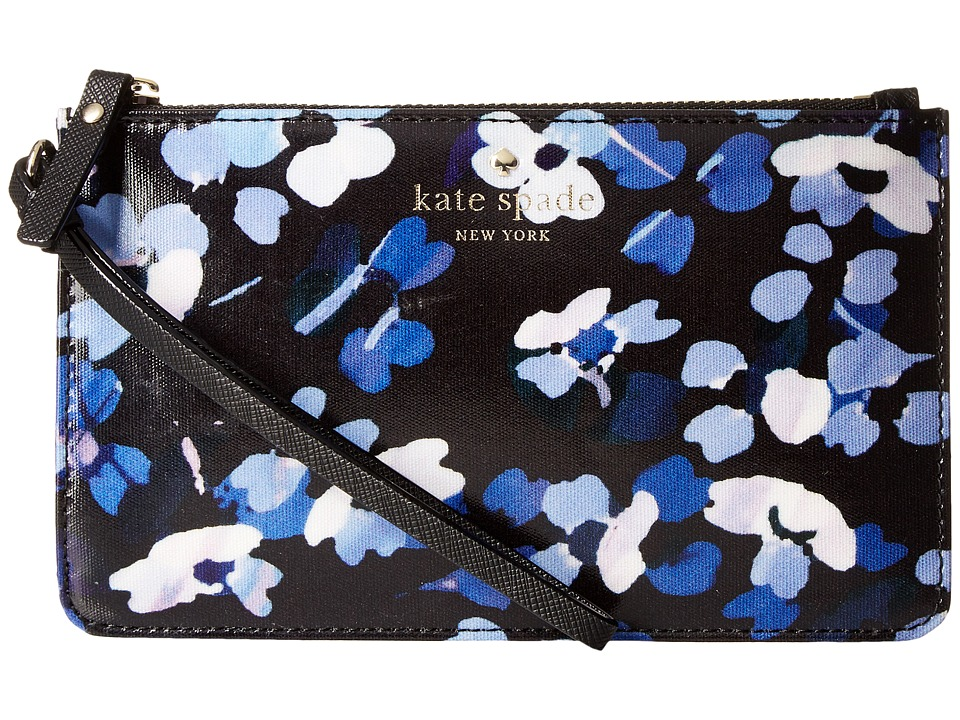 Kate Spade New York - Cedar Street Floral Slim Bee (Black Multi) Travel Pouch