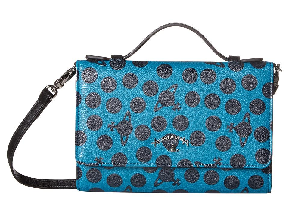 Vivienne Westwood - Dotmania Travel Wallet (Green) Wallet Handbags