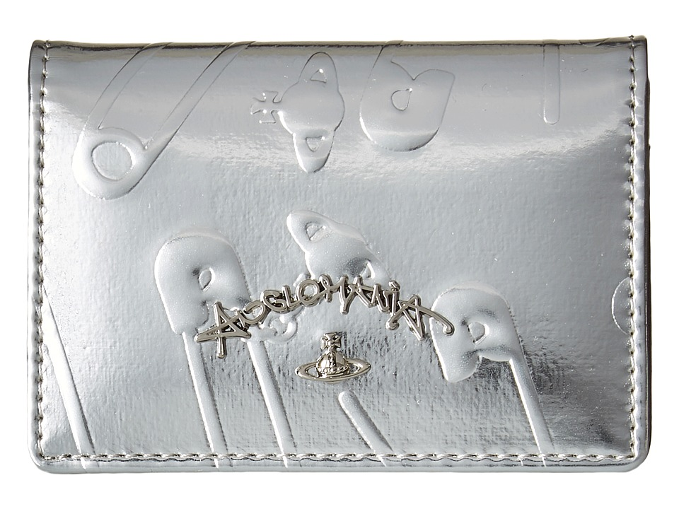 Vivienne Westwood - Safety Pin Travel Wallet (Silver) Wallet Handbags