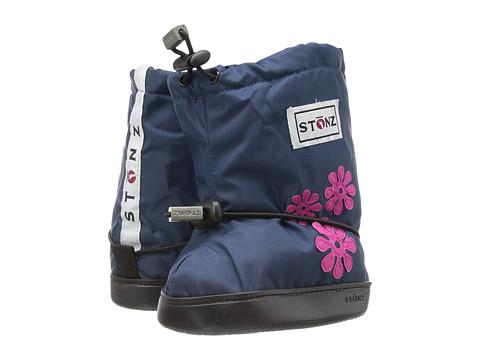Stonz Booties (Toddler) - Flowers/Navy Blue