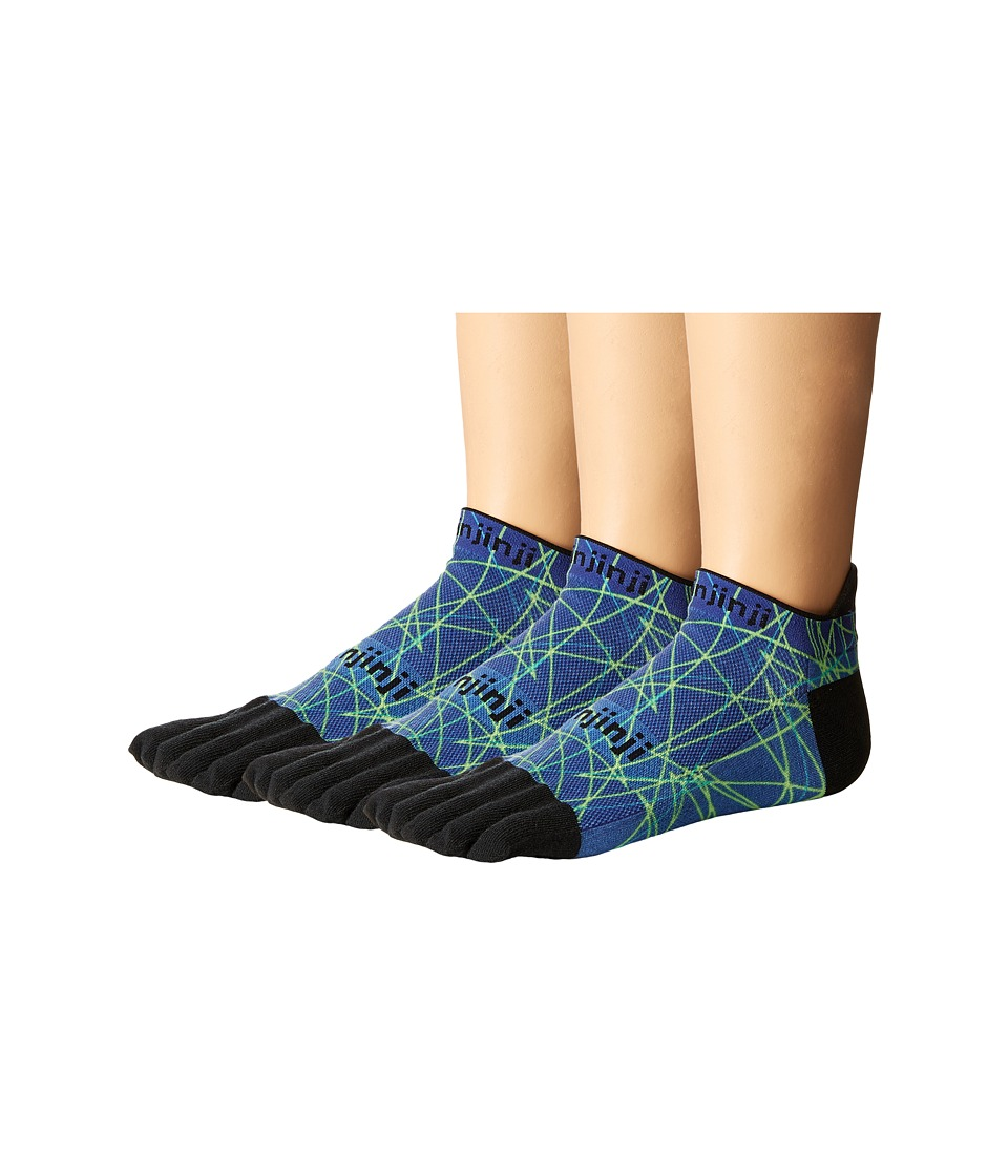 Injinji Run Lightweight No Show 3-Pack (Ocean Spectrum) N...