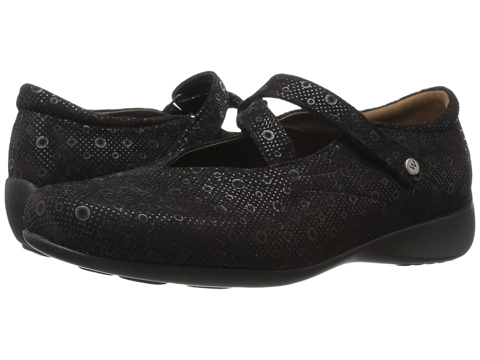 Wolky Passion (Black Pattern) Flats
