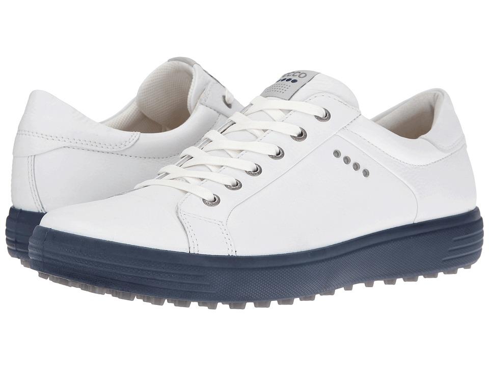 ECCO Golf Golf Casual Hybrid (White/Marine) Men
