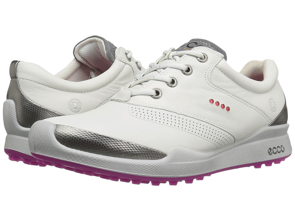 Ecco Golf - BIOM Hybrid Hydromax (White/Candy) Women's Go...