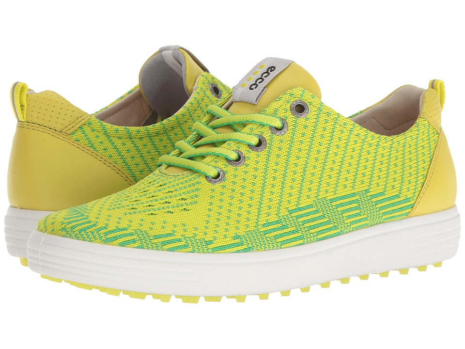 ECCO Golf - Casual Hybrid Knit (Lime Punch/Toucan Neon/Sulphur) Womens Golf Shoes