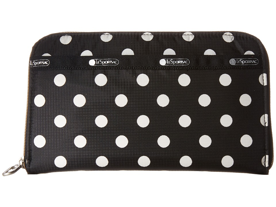 LeSportsac - Everyday Wallet (Sunshine Dot Black) Wallet Handbags