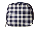 LeSportsac SQ Essential Cosmetic Case (Gingham Classic Navy)