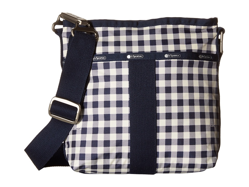 LeSportsac Essential Crossbody Gingham Classic Navy Cross Body Handbags
