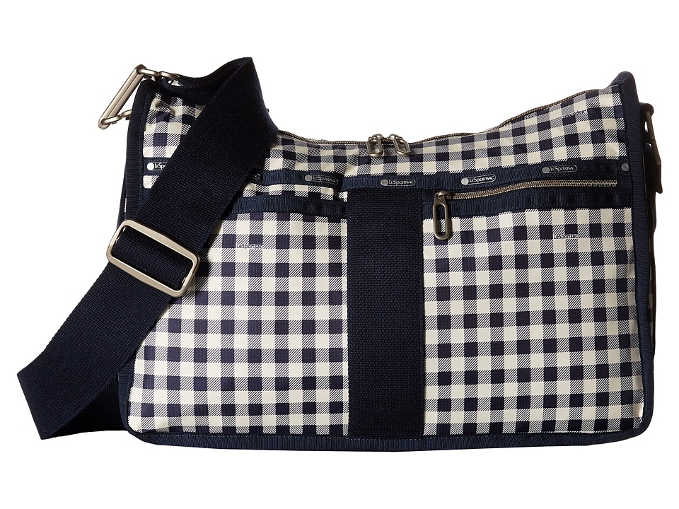 LeSportsac Everyday Bag Gingham Classic Navy Handbags