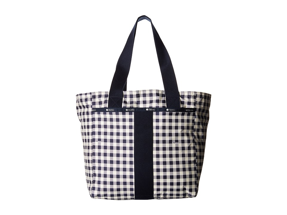LeSportsac - Everyday Tote (Gingham Classic Navy) Tote Handbags