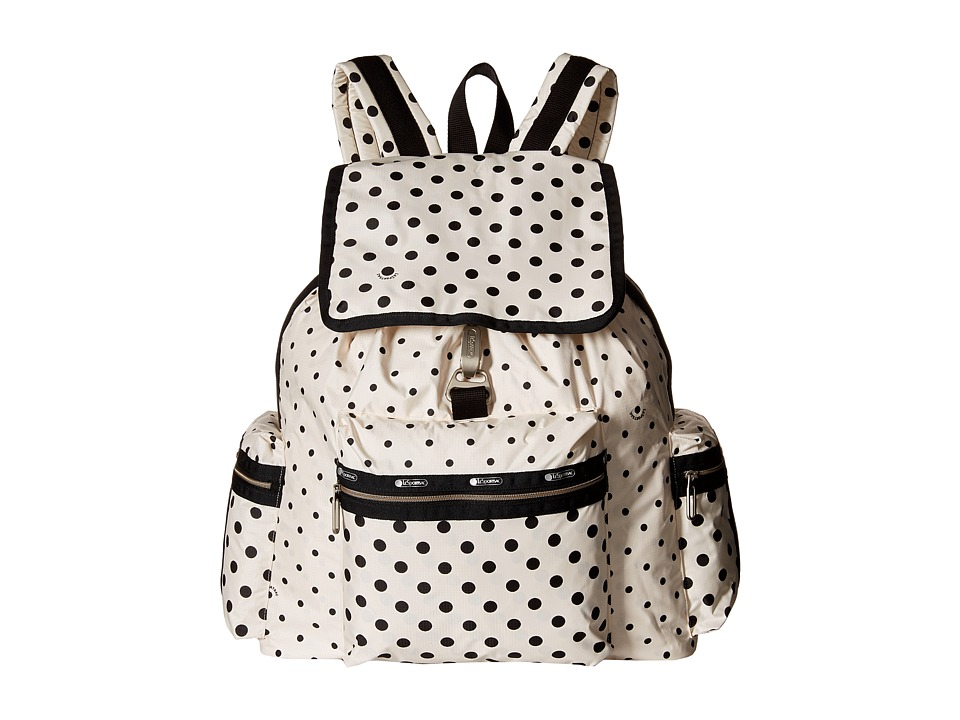 LeSportsac - 3-Zip Voyager (Sun Multi Cream) Handbags