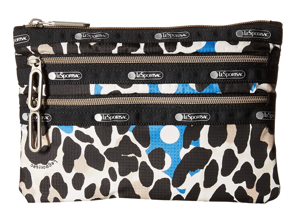 LeSportsac - Classic 3-Zip Pouch (Animal Dots) Wallet