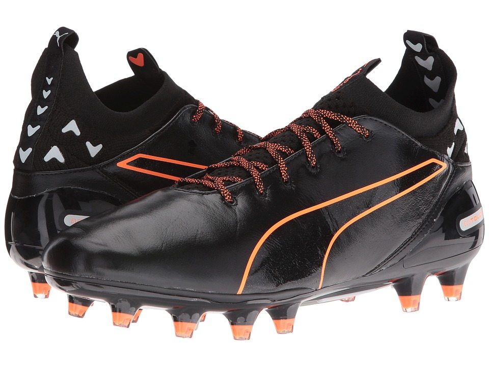 PUMA evoTouch Pro FG (Puma Black/Puma Black/Shocking Orange) Men
