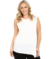 Vince Camuto Plus - Plus Size Sleeveless Top with Asymmetrical Heavy Georgette Hem