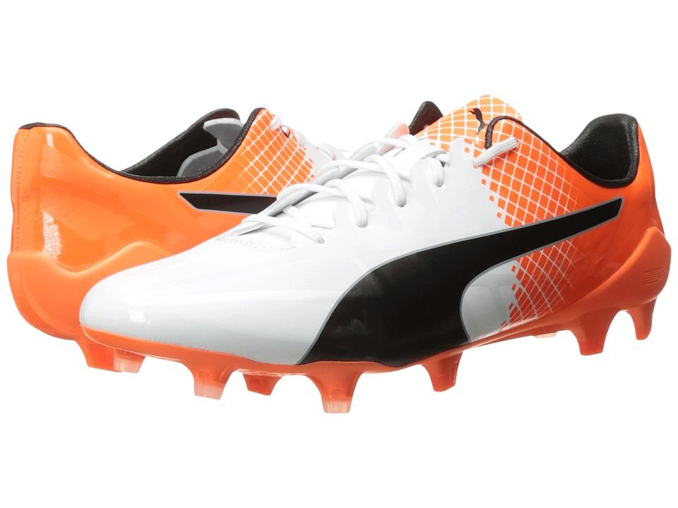 PUMA evoSPEED SL-S II FG (Puma White/Puma Black/Shocking Orange) Men