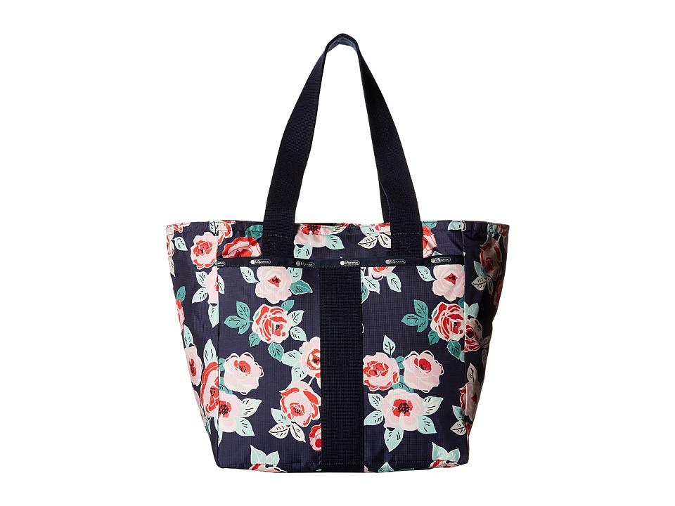 LeSportsac - Everyday Tote (Navy Rose) Tote Handbags