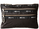 LeSportsac Classic 3-Zip Pouch (True Black)