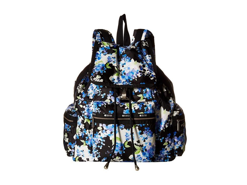 LeSportsac 3 Zip Voyager Flower Cluster Handbags