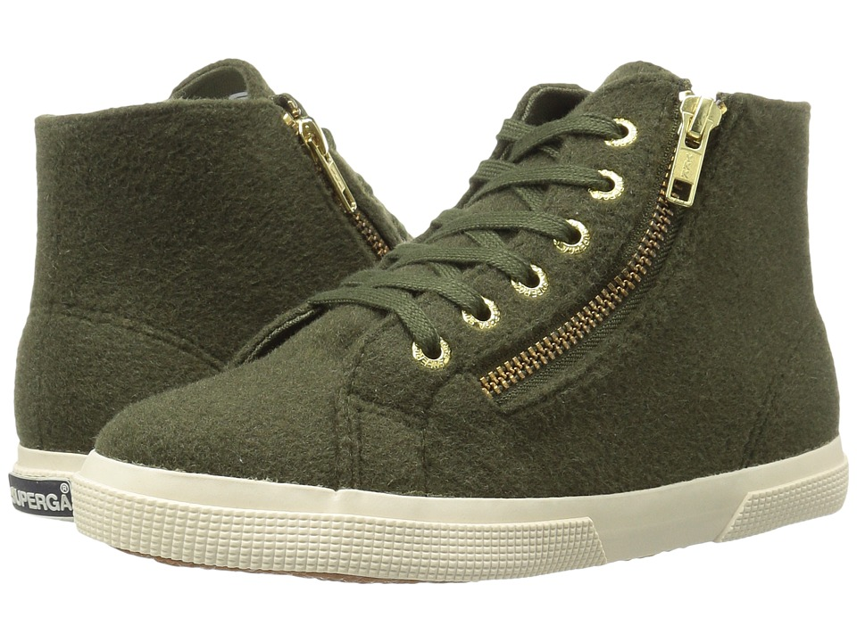 Superga - 2224 Polywoolw (Green Olive) Women