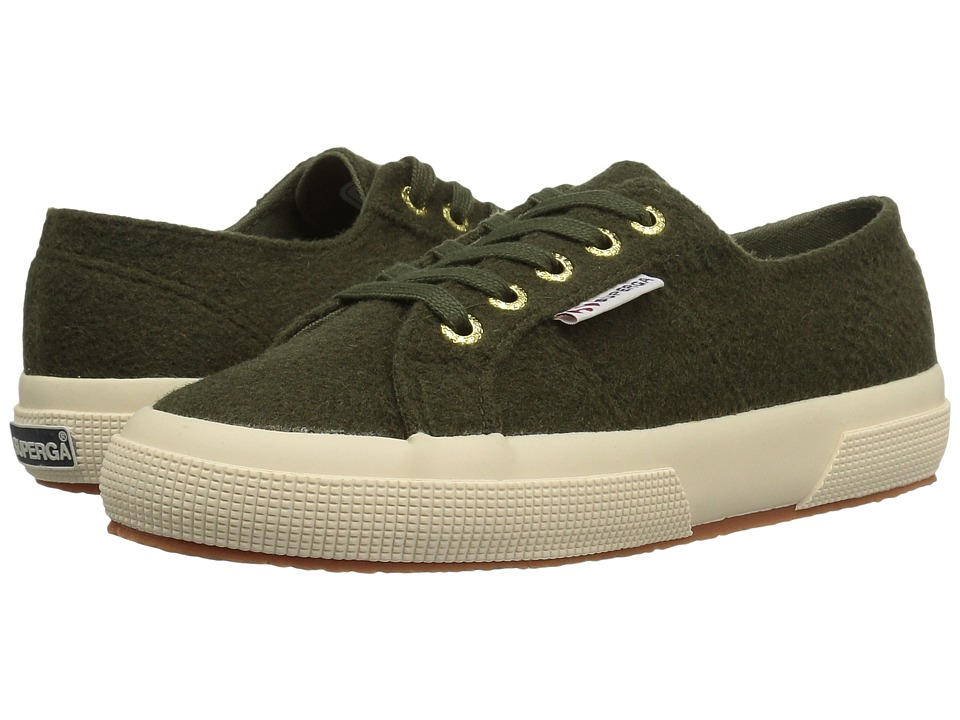 Superga - 2750 Polywoolw (Green Olive) Women