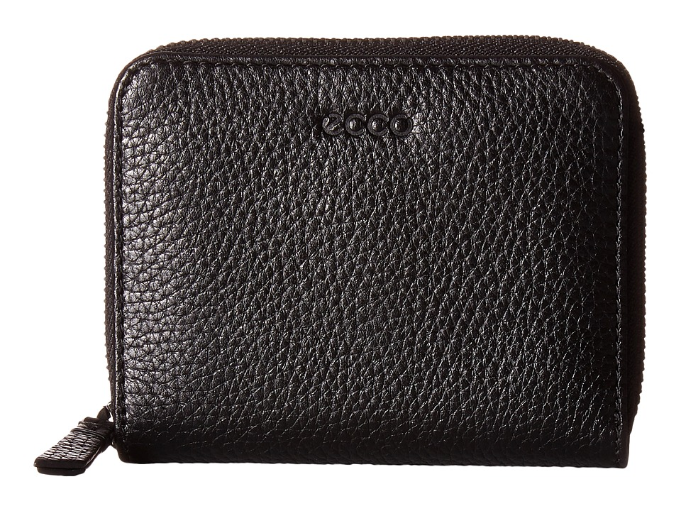 ECCO - SP 2 Medium Zip Wallet (Black) Wallet Handbags