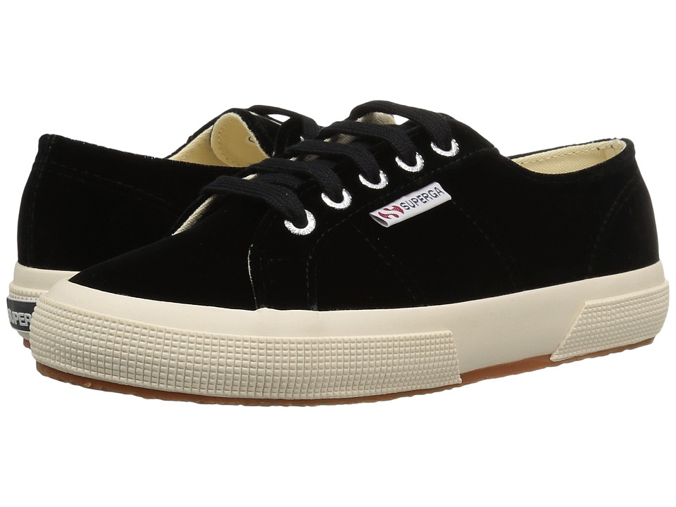 Superga - 2750 Velvetw (Black) Women
