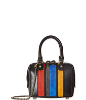 Alice + Olivia - Suede Vertical Stripe Mini Olivia
