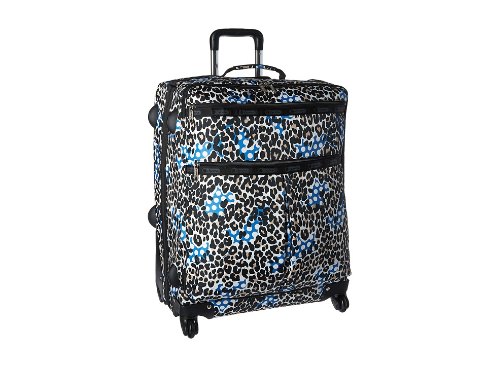 LeSportsac Luggage 24 Inch 4 Wheel Luggage Animal Dots Carry on Luggage