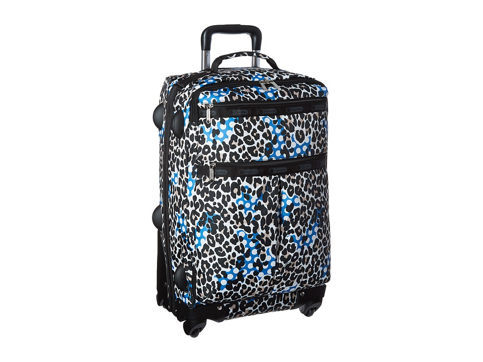 LeSportsac Luggage - 22 Inch 4 Wheel Luggage (Animal Dots) Carry on Luggage