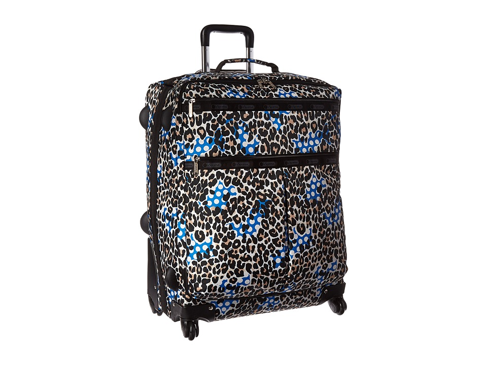 LeSportsac Luggage 18 Inch 4 Wheel Luggage Animal Dots Pullman Luggage