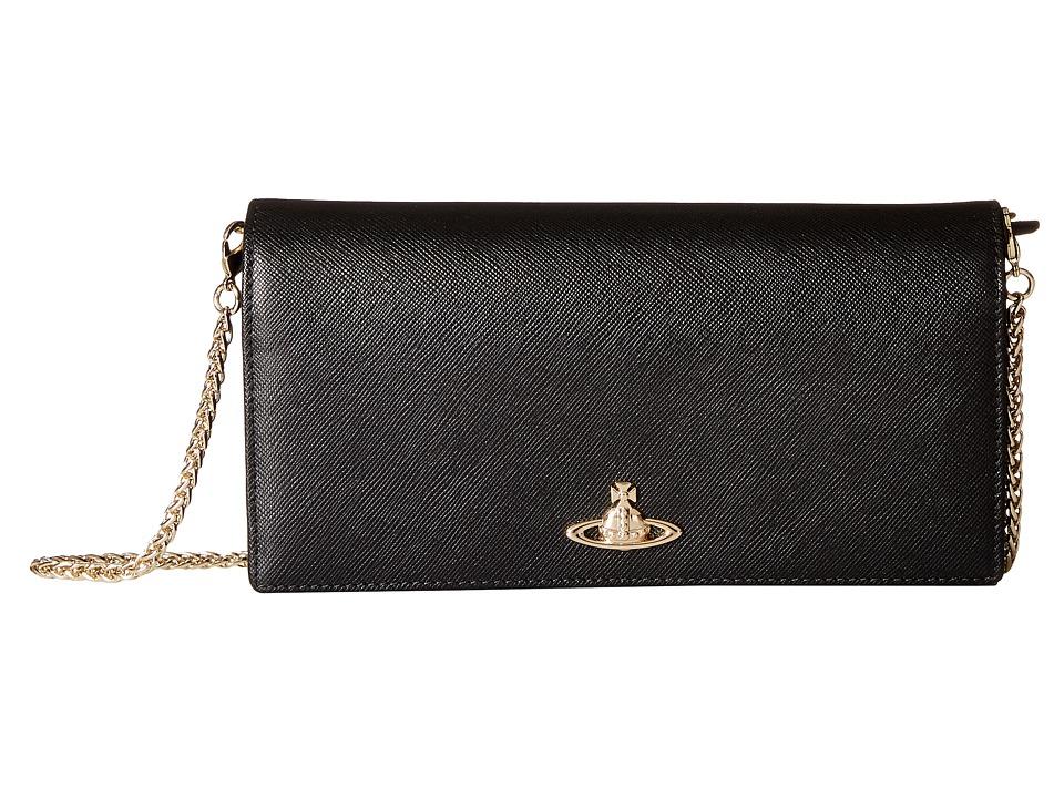 Vivienne Westwood - Opio Saffiano Wallet (Black) Wallet Handbags