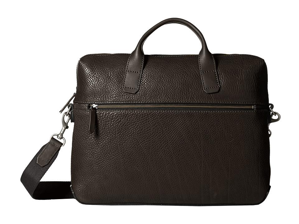 ECCO - Ioma Slim Briefcase (Black) Briefcase Bags