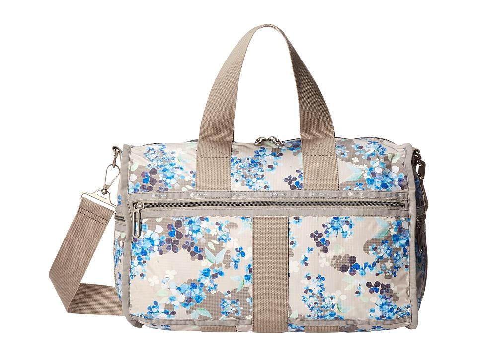 LeSportsac Luggage Weekender Flower Cluster Khaki Weekender/Overnight Luggage