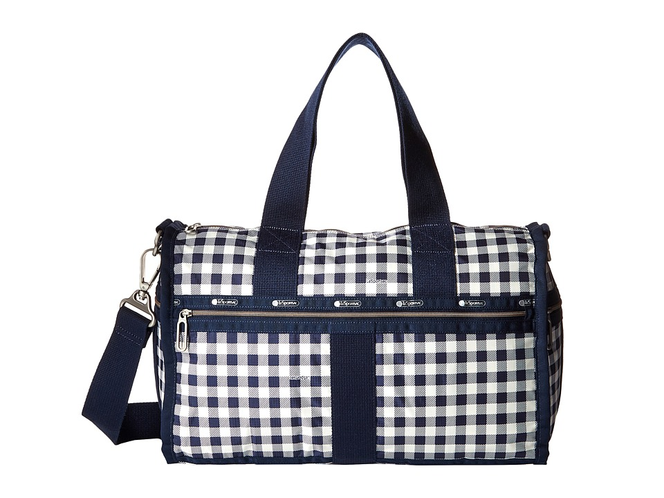 LeSportsac Luggage - CR Small Weekender (Gingham Classic Navy) Weekender/Overnight Luggage