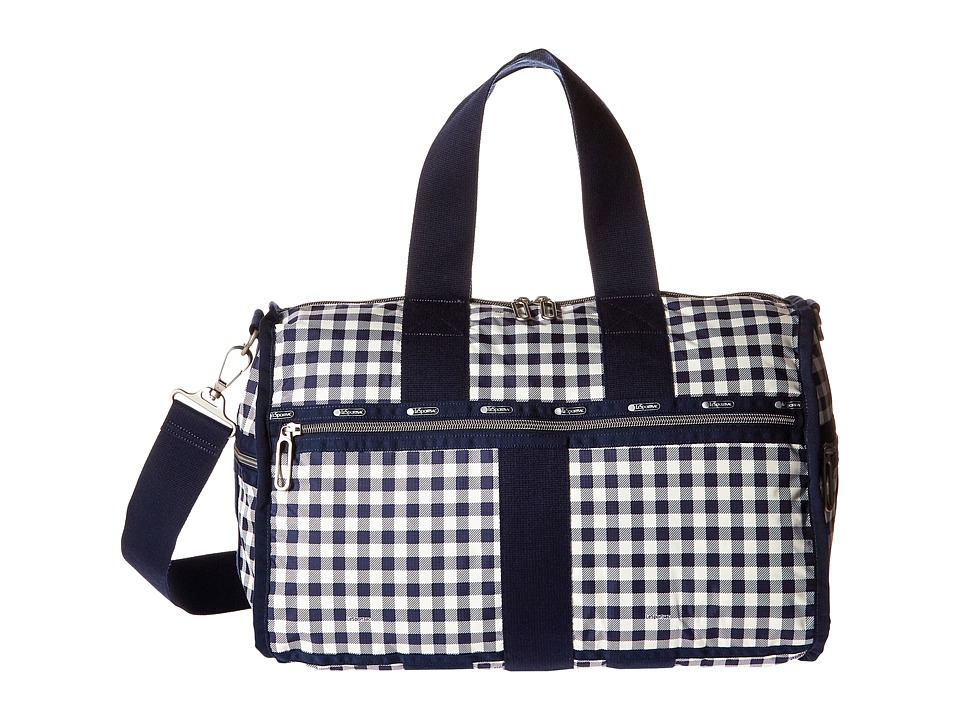 LeSportsac Luggage - Weekender (Gingham Classic Navy) Weekender/Overnight Luggage