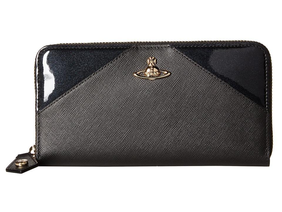 Vivienne Westwood - Gold Wallet (Black) Wallet Handbags