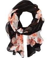 Calvin Klein - Lily Floral Chiffon Ruffle Scarf