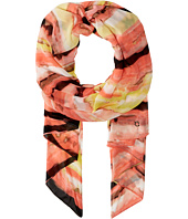 Calvin Klein - Painted Stripe Chiffon Scarf