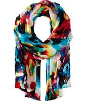 Calvin Klein - Rainbow Floral Chiffon Scarf