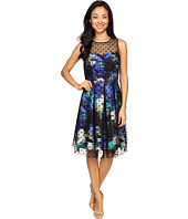 Christin Michaels - Toni Polka Dot Overlay Dress