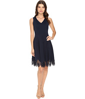 Christin Michaels - Flare Crochet Hem Scuba