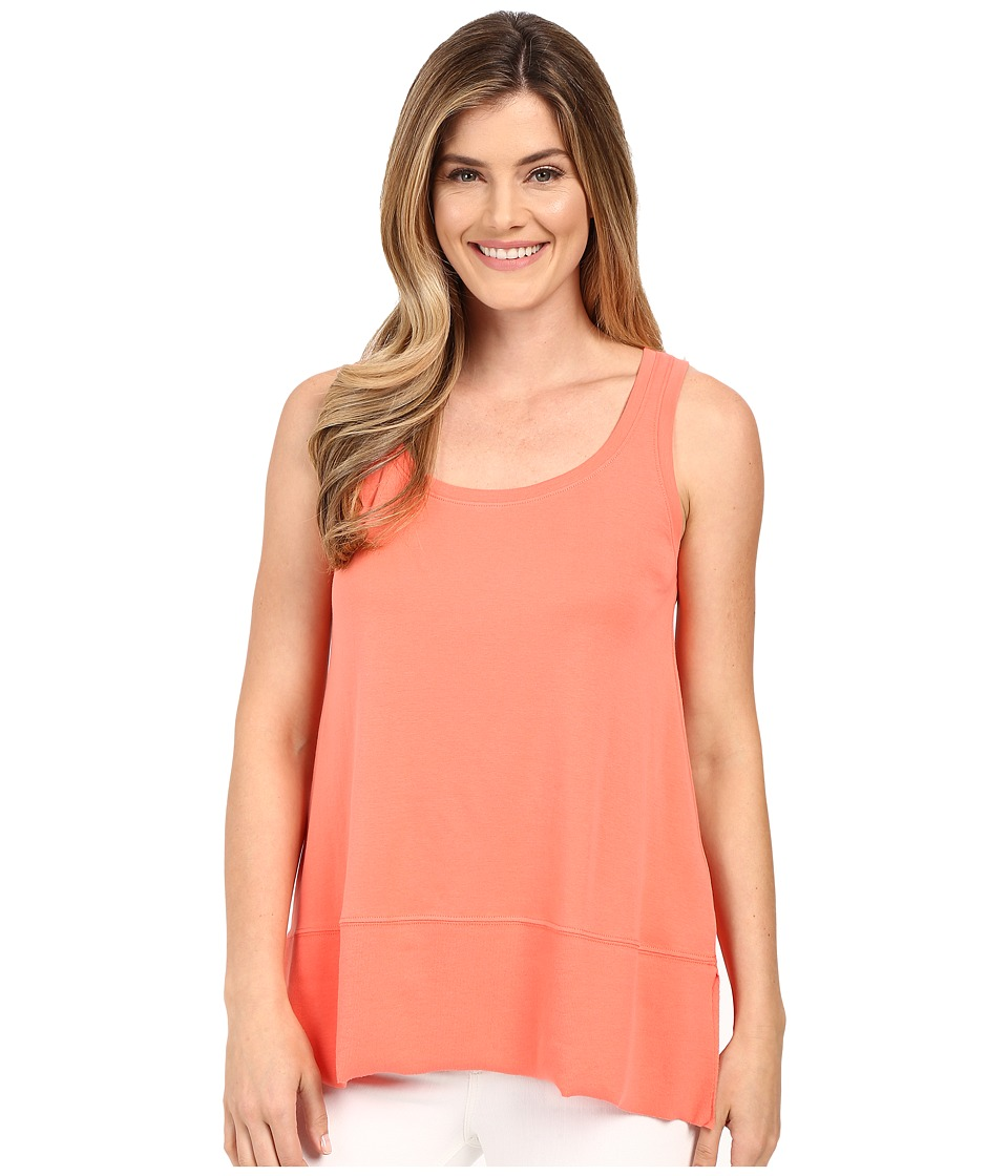 Lilla P Fine Rib Scoop Tank Top Guava Womens Sleeveless