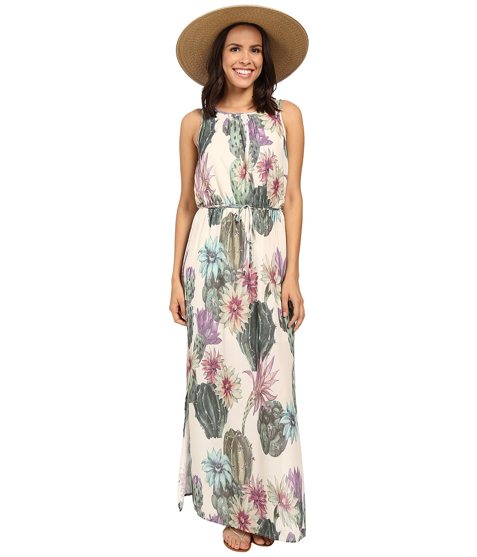 ONLY Ariel All Over Print Maxi Dress Whisper White Desert Cactus Print Womens Dress