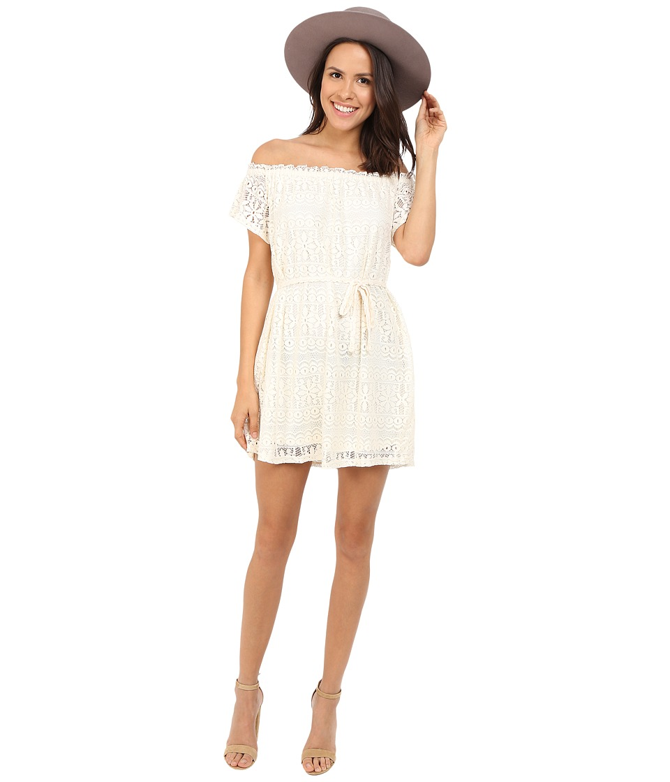 ONLY Gaya Short Sleeve Off the Shoulder Dress Whisper White Womens Dress