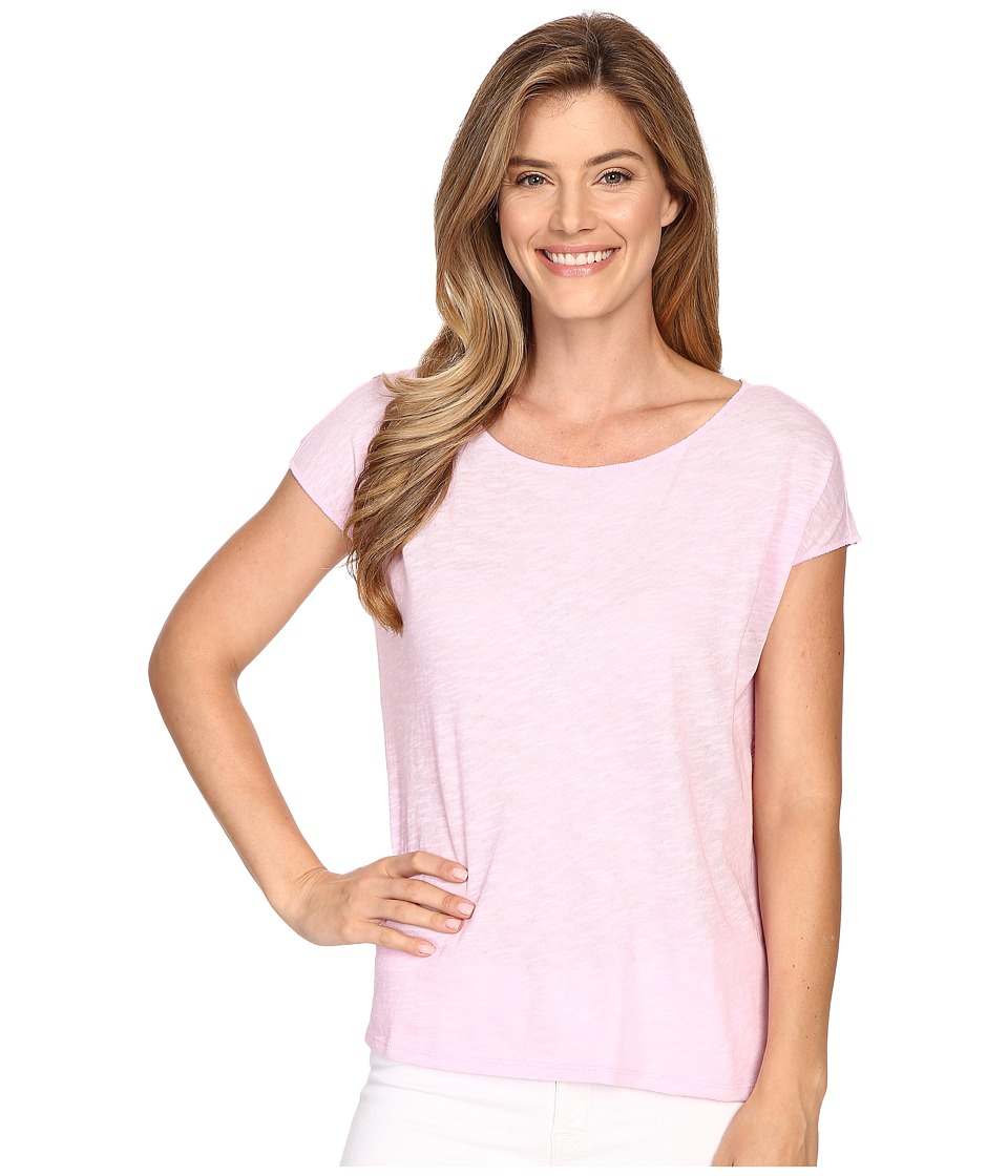 Lilla P Flame Gauze Dolman Sleeve Boat Neck Pink Blossom Womens T Shirt