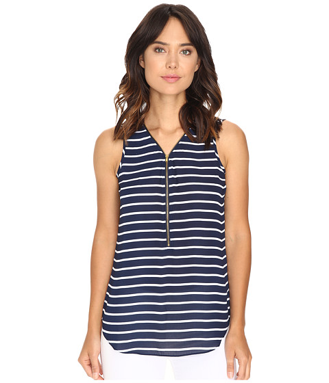 Christin Michaels Nori Striped Sleeveless Blouse