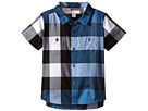 Burberry Kids Short Sleeve Check Shirt with Two-Pocket (Infant/Toddler)